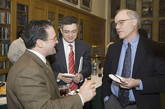 Mark Campisano '80 and YLS Profs. Henry Smith '96 and Robert Ellickson '66