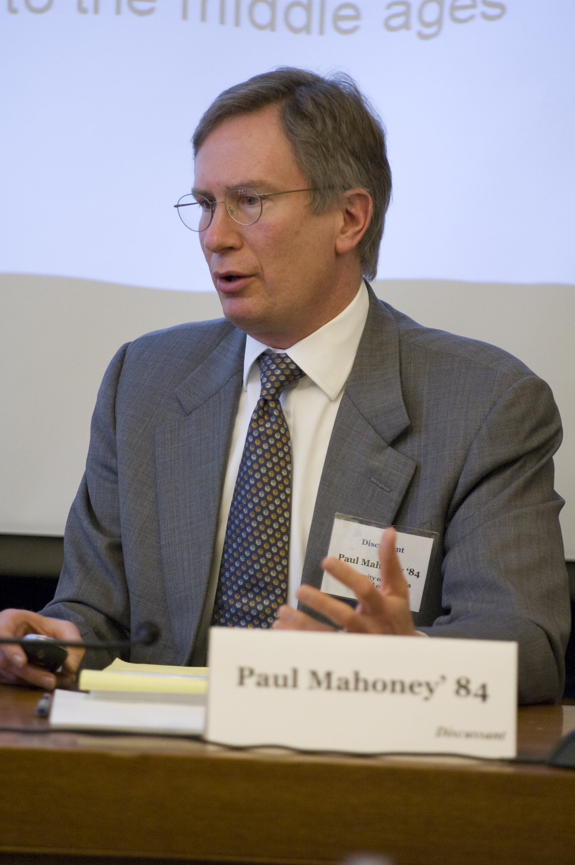 UVA Law Prof. Paul Mahoney '84