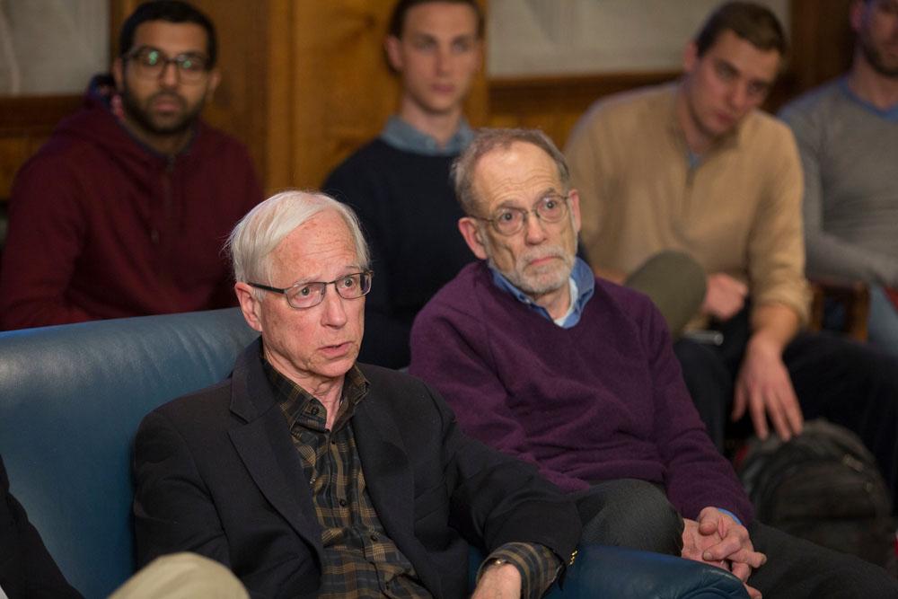 YLS Profs. Alan Schwartz '64 and Alvin K. Klevorick