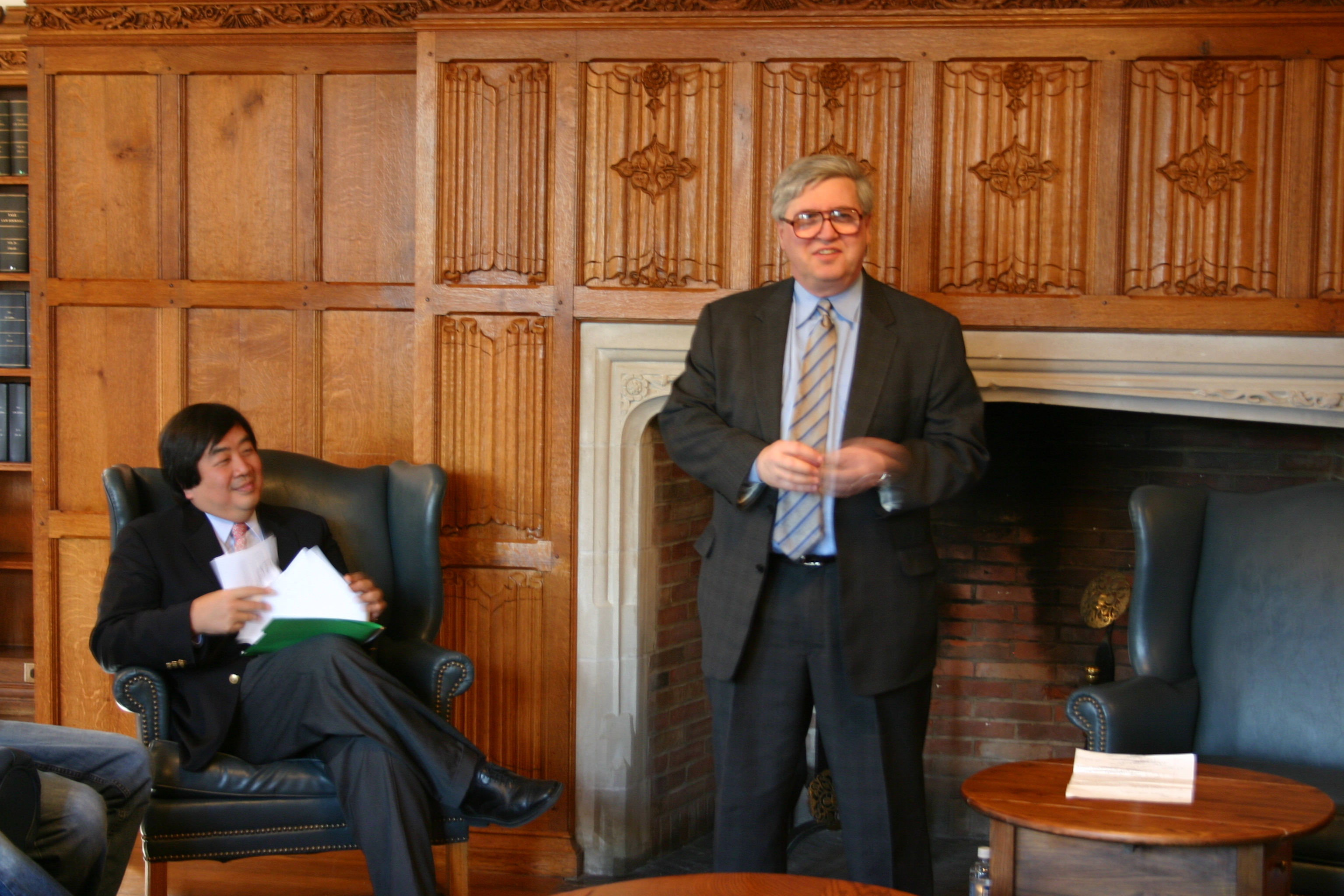 YLS Dean Harold Koh and Northwestern Law Prof. Daniel Fischel