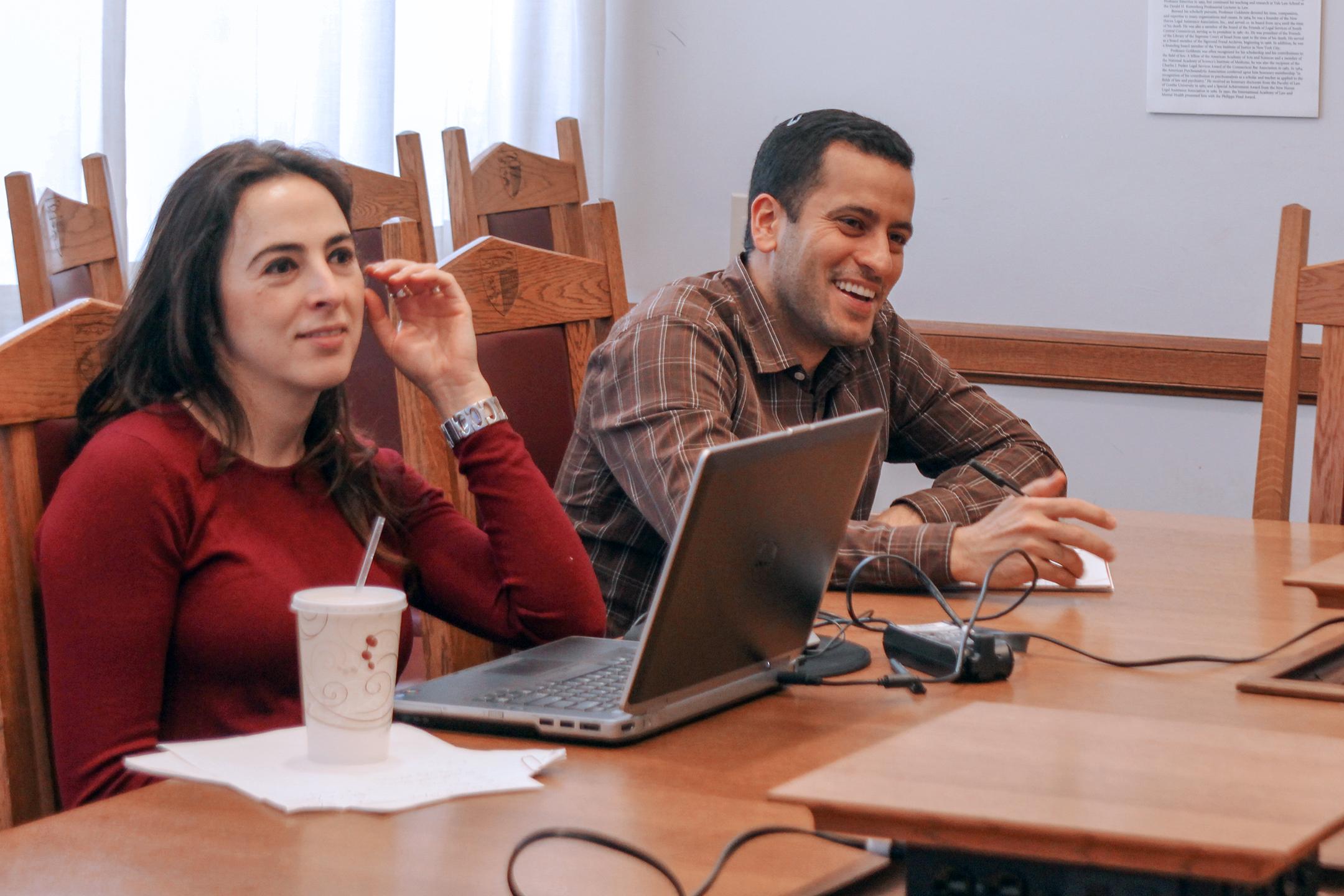 Center Exec. Dir. Erica Gorga and Moishe Zaghi '17