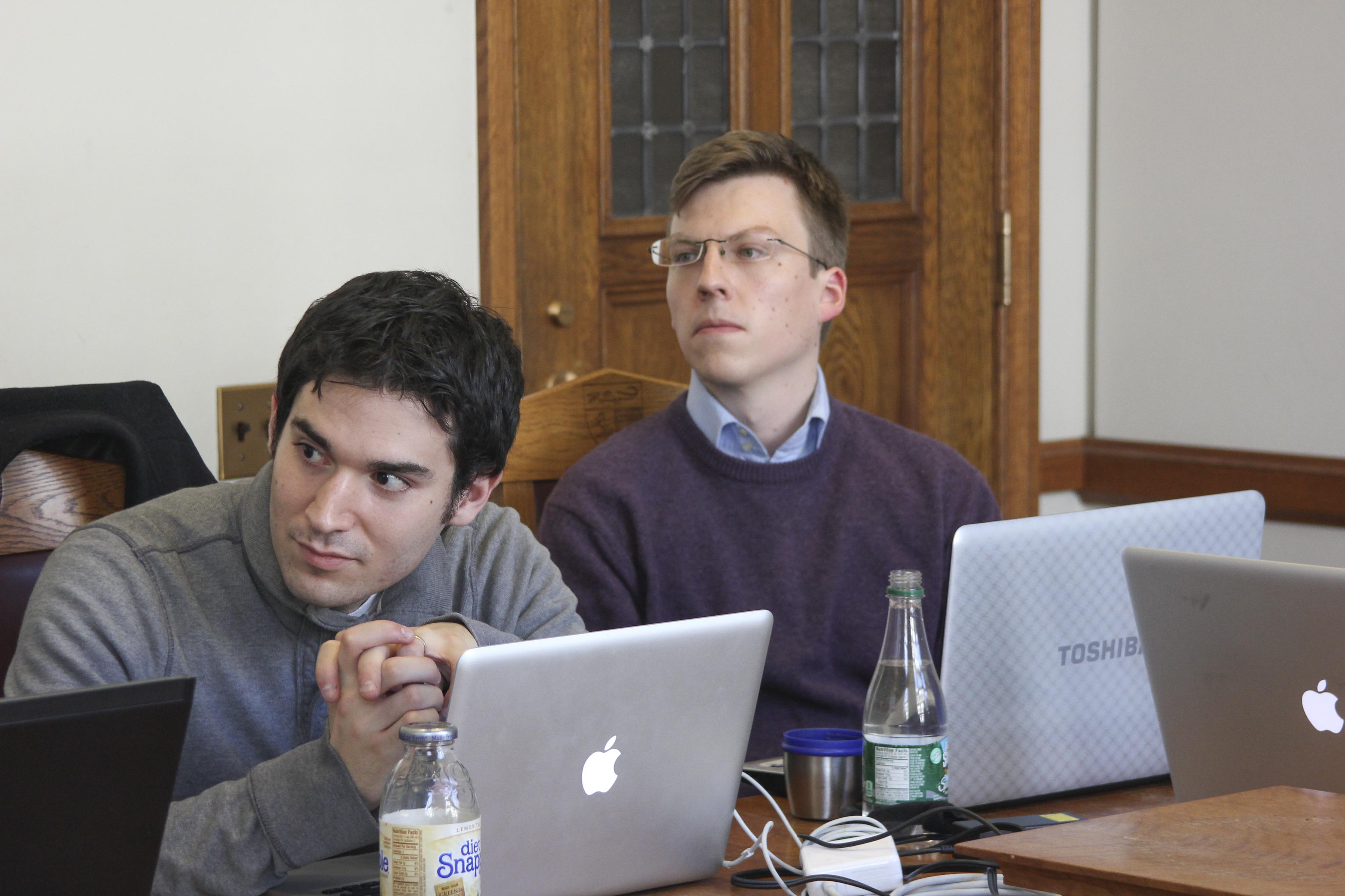 Joshua Mitts '13 and Martin Gross-Langenhoff LLM '12