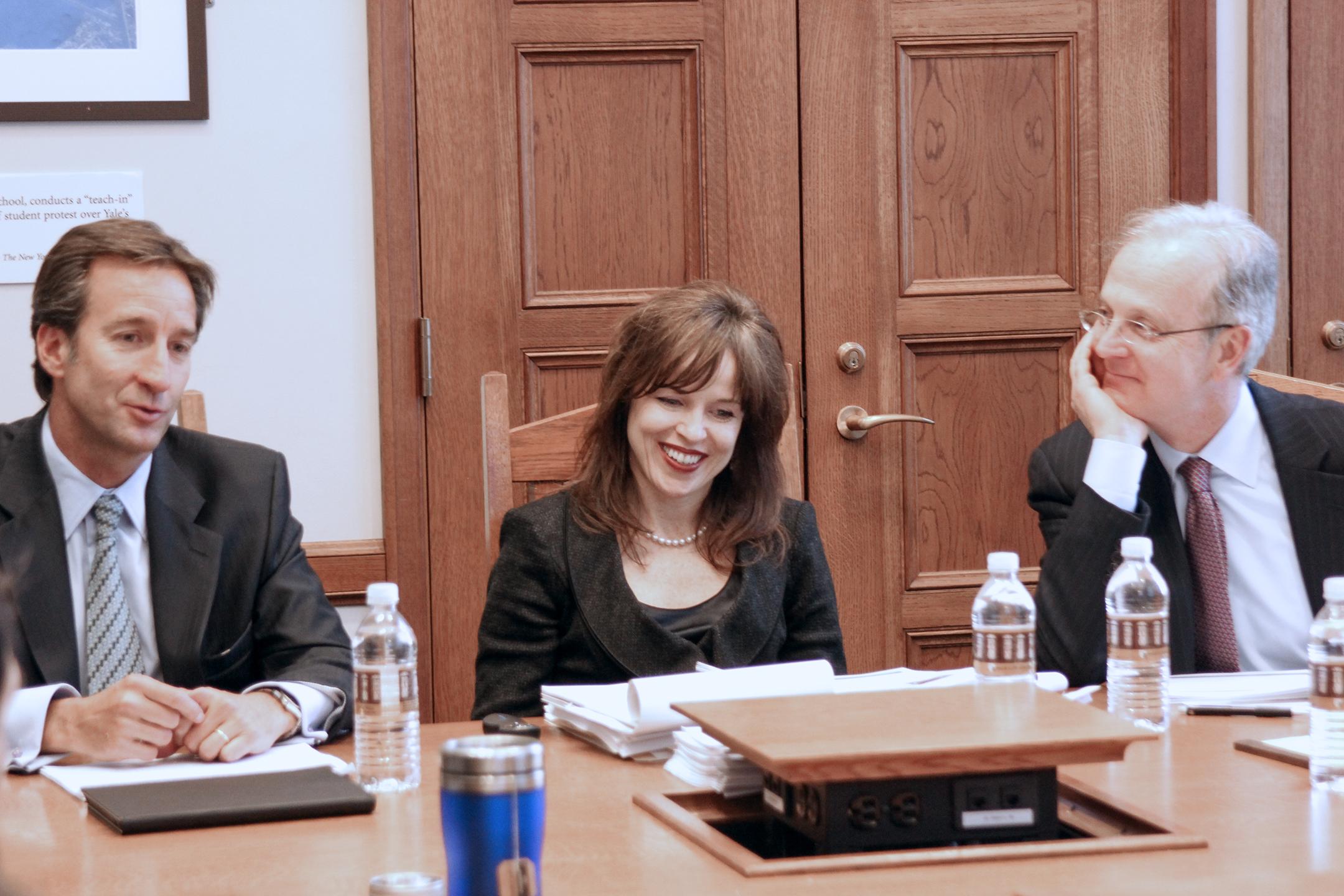 Alvaro Barriga, Lynn K. Neuner '92, and David Williams