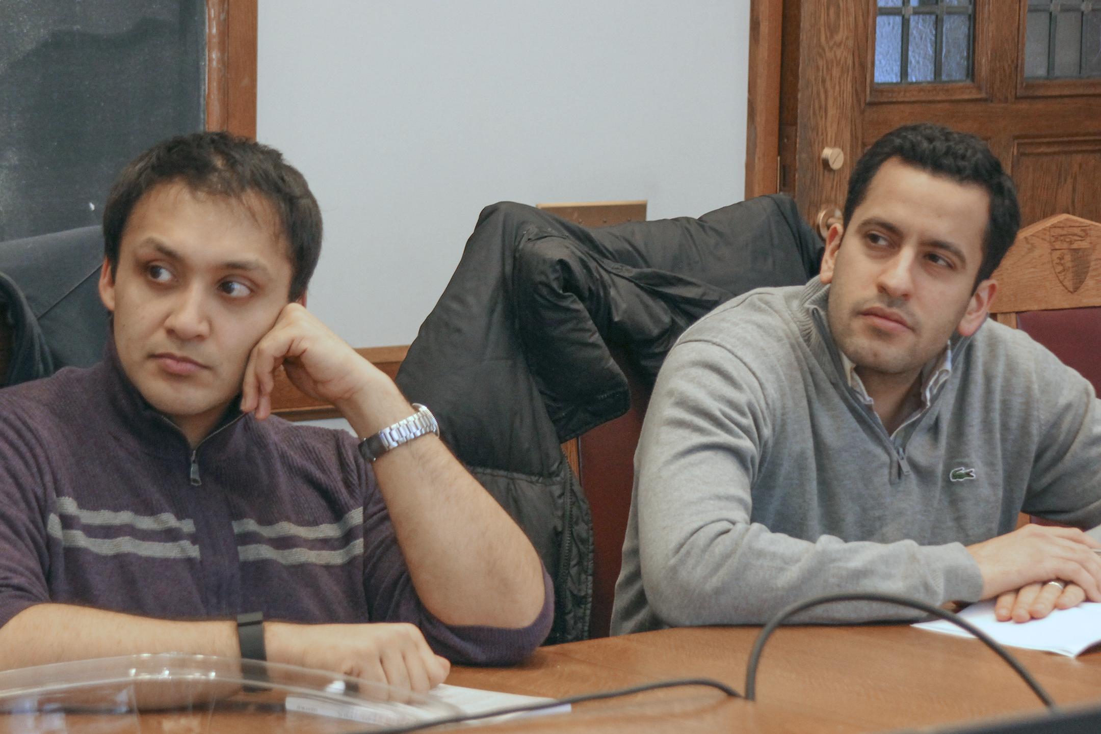 Vishal Chanani '16 and  Moshe Zaghi '17