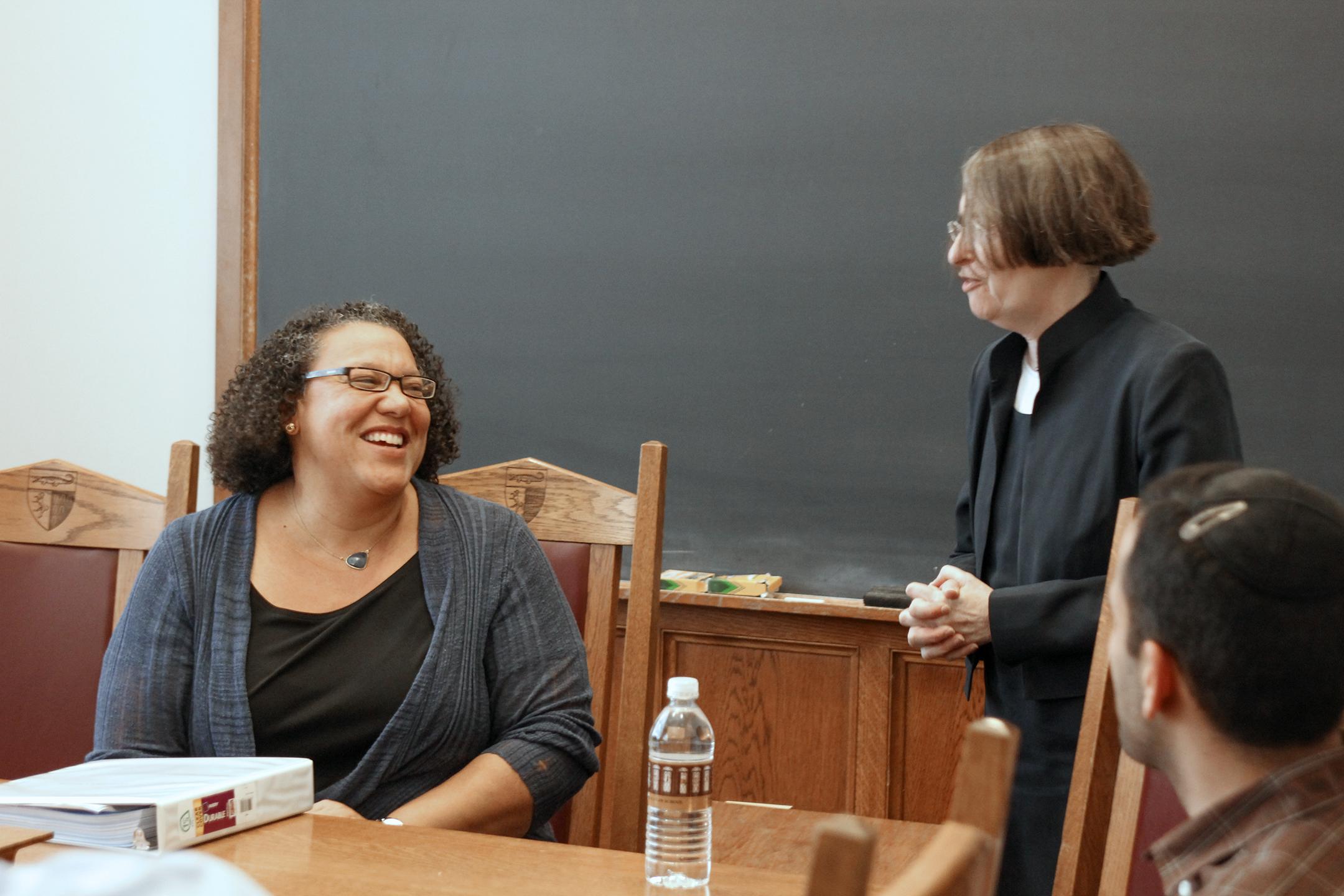 Kimberley D. Harris '96 and YLS Prof. and Center Dir. Roberta Romano '80