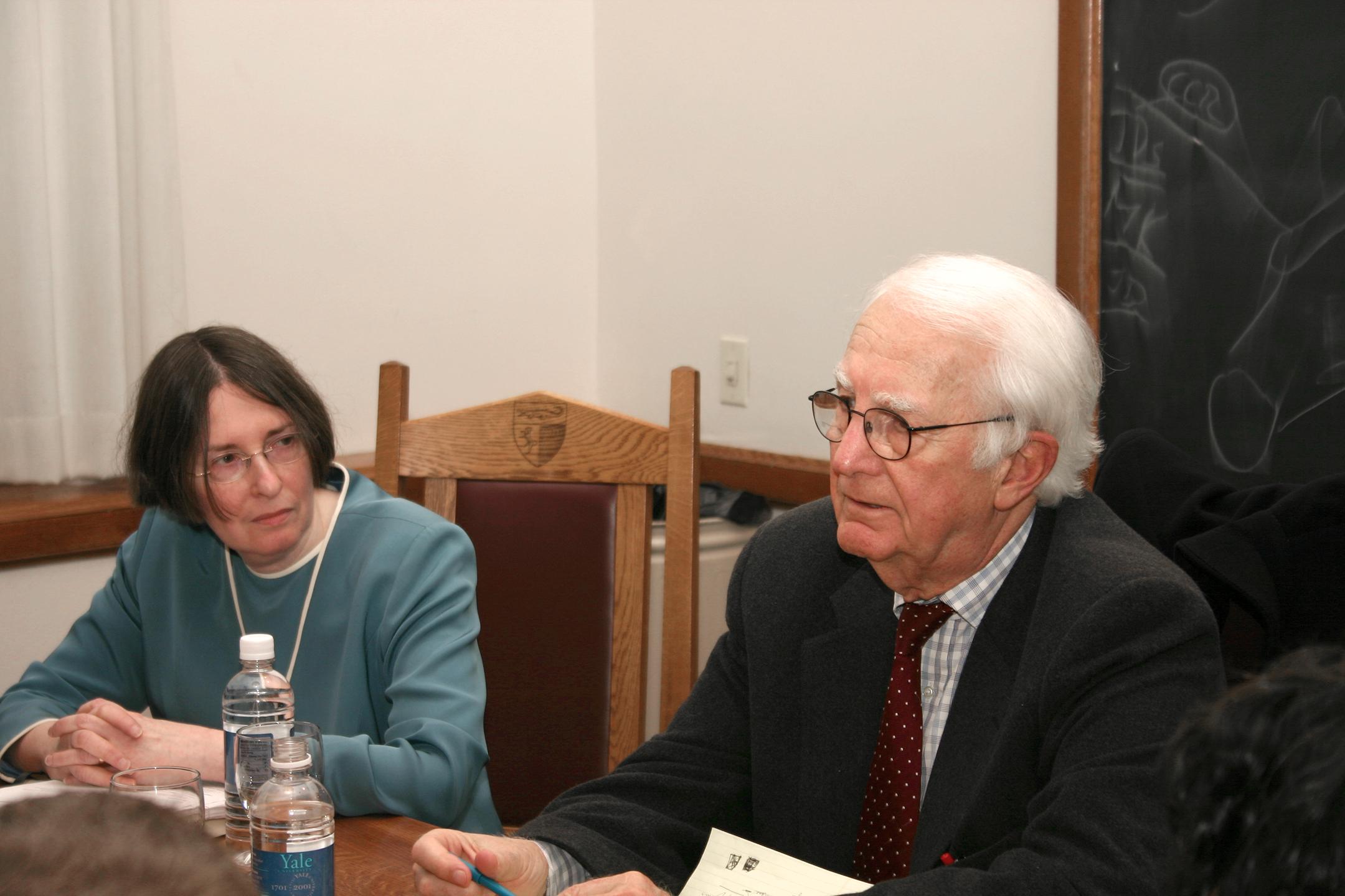 YLS Prof. and Center Dir. Roberta Romano '80 and Alan U. Schwartz '56