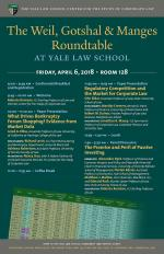 Poster for the 2018 Weil, Gotshal & Manges Roundtable