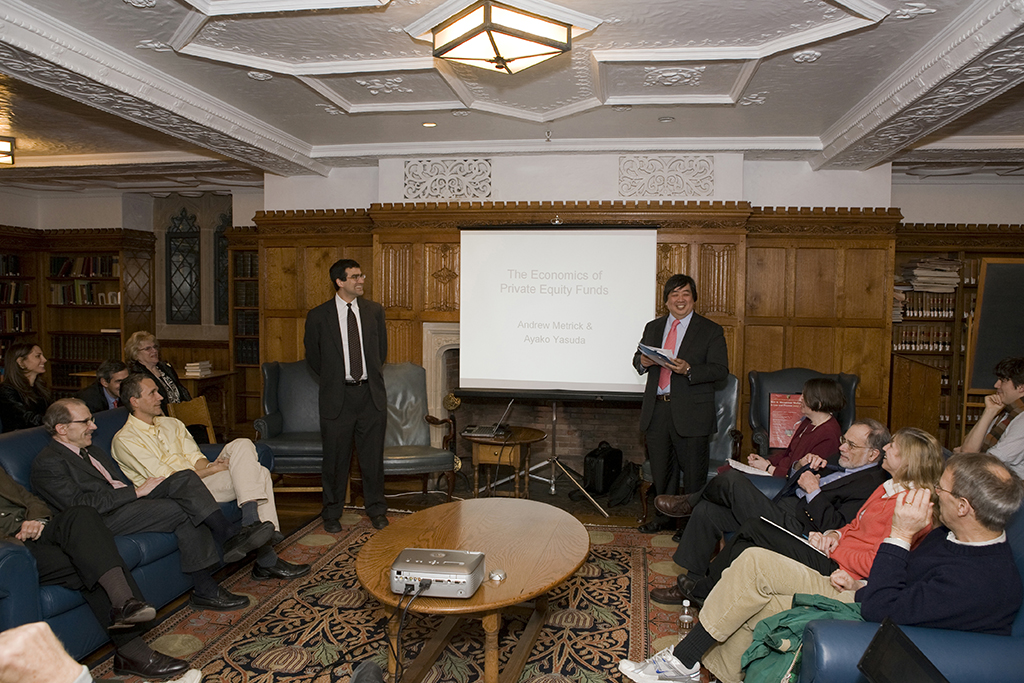 YLS Dean Harold Hongju Koh introduces Wharton Prof. Andrew Metrick