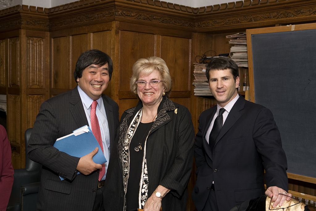 YLS Dean Harold Hongju Koh, Sandra Wasserman, and Jason Glasser