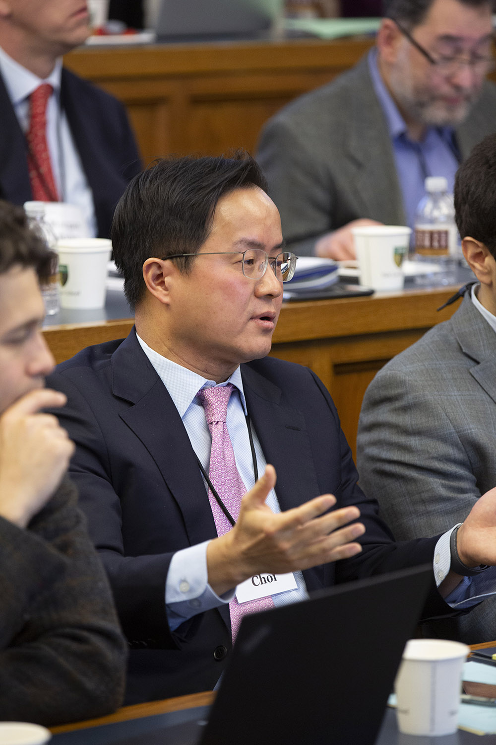 UVA Law Prof. Albert Choi '01 asking a question