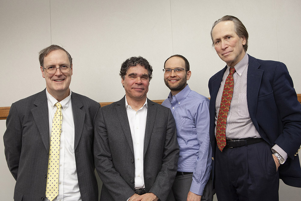Yale SOM Prof. in the Practice of Finance William B. English, Yale Econ. Prof. John Geanakoplos, YLS Prof. Yair Listokin '05, and Duke Law Prof. Steven L. Schwarcz
